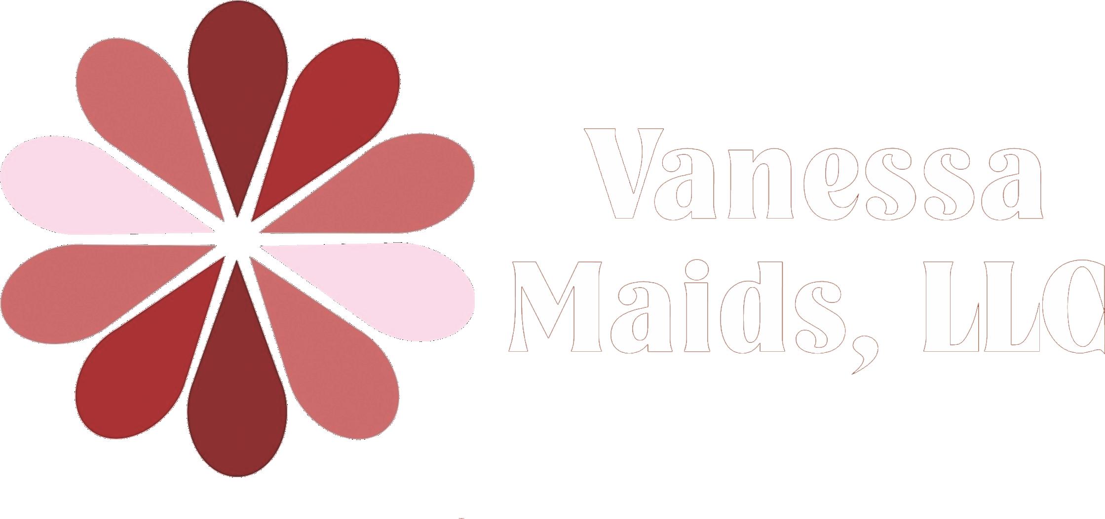 Vanessa maids logo white